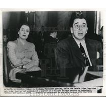1951 Press Photo Sidney A Brodson a Milwaukee gambler at Senate Crime Committee