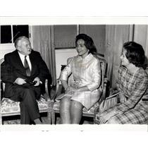 1970 Press Photo Mrs. Coretta King With British PM Harold Wilson