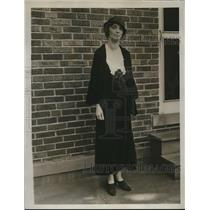 1923 Press Photo Mrs. Care Knirk Presisent of Lakewood Women's Club.