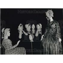 1979 Press Photo Morning Bonnets from the 19th Century in Embroidered Muslin
