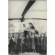 1957 Press Photo Regular Brussels-Paris-Brussels Service by helicopters opened