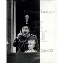 1966 Press Photo Queen & Members of Royal Family on Balcony