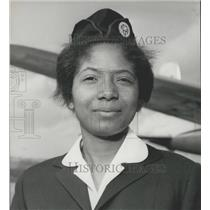 1960 Press Photo Douala Bell,First Black Air Hostess hired By French Air Company