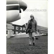 Press Photo Airplane, Rochester Airport