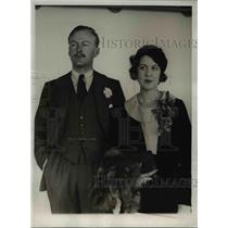 1933 Press Photo Sir Hugh Smiley and his bride were among the arrivals in New