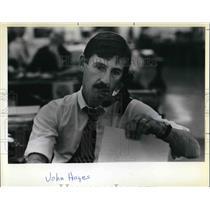 1981 Press Photo John Hayes, Reporter - ora38786