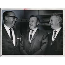 1963 Press Photo Emil Mazey, Walter P. Reuther and Patrick J O'Malley