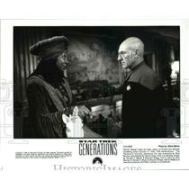 1994 Press Photo Patrick Stewart Whoopi Goldberg in Star Trek Generations
