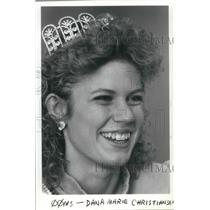 1985 Press Photo Danna Marie Christiansen Miss Oregon Teen USA