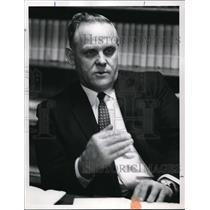 1966 Press Photo Gus Hall, America's No 1 communist - ora32891