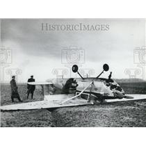 1958 Press Photo Berolina Film Company Plane Makes Forced Landing