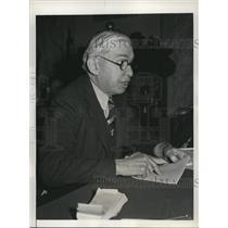 1939 Press Photo of A.I. Loomis National Dairy Union Spokesman