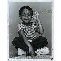 1984 Press Photo Emmanuel Lewis American actor in Television sitcom Webster