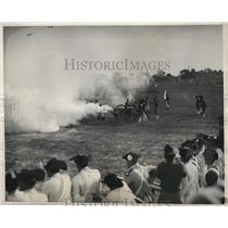 1931 Vintage Press Photo American Revolution re-enactment a battle