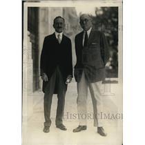 1920 Press Photo Dr. L.S. Rowe, and John Barrett