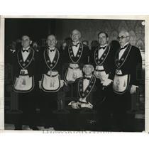 1931 Press Photo New Pennsylvania Masonic Head, Benjamin Page, Installed