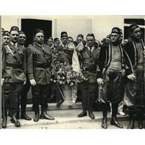 1923 Press Photo Basket of flowers for Mrs Harding Shriners of Kismet temple