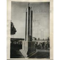 1925 Press Photo Parma Cemetery War Memorial Statue, Italy by Monguidi