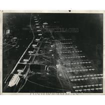 1931 Press Photo Night scene at the Fairfield Airport