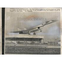 1964 Press Photo North America's XB-70 is off the ground at Palmdale Airport