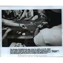 1989 Press Photo Legal poker parlor owners in California to amend state's law