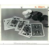 1985 Press Photo The card games