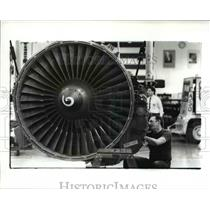 1989 Press Photo General Electric's Aircraft engine plant