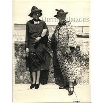 1936 Press Photo of Mrs. John S. McCormick and Mrs. Charles J. Tobin.