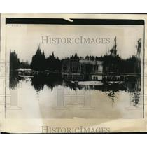1928 Press Photo of Cedar Island Lodge.