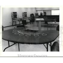 1979 Press Photo Police gambling room