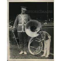 1924 Press Photo W E Thompson and Alice Greenblat Drum Majors Atlanta Elks Band