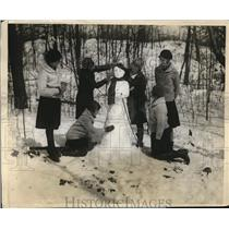 1928 Press Photo Girl Scout leaders at camp Janet Fitzs, Eliza May, Kath Ketcham
