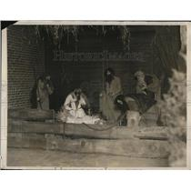 1926 Press Photo Tableau of the Nativity by society of women in Boston District