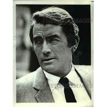 1972 Press Photo Gregory Peck stars in The Chairman - orp22918