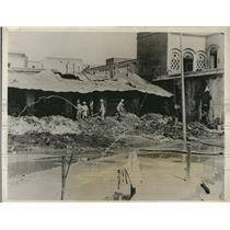 1931 Press Photo Cawnpore India damage from fire bombs during rioting