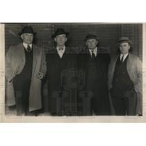 1925 Press Photo L-R Capt.Fred Puckett, Harry Brown,Sam Goodpastor & M. Collins