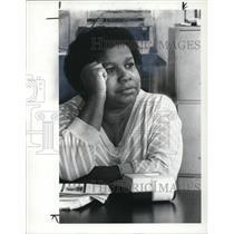 1984 Press Photo Evelyn Mills unemployed