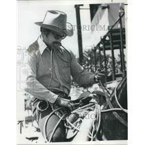 1973 Press Photo Jeff Copenhaver, adjust for ride