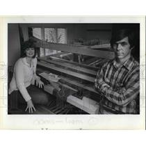 1983 Press Photo Serena & Dale Johnston quit their job to weave and make looms