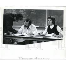 1973 Press Photo Ronald Bigelow And Boardwoman Mary Bishop Danse Macabre