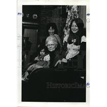1977 Press Photo Bertha Hoot 14 Children Christine, Betty Janna Creswell Farm