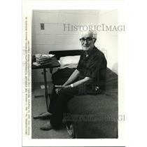 1987 Press Photo Maurice McCrakin on Fairfax City Jail in Virginia