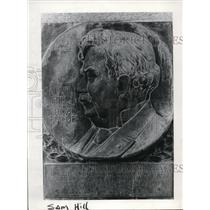 1978 Press Photo Samuel Hill, described as philanthropist and patriot in plaque