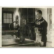 1930 Press Photo Newark NJ John Kristobeik as labor foreman in a plant