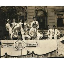 1925 Vintage Photo Maccabees Caravan Entertainers performing parade