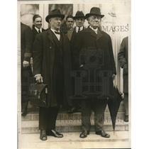 1922 Press Photo (L)Gov.John Parker & Atty. Gen. Coco at the White House