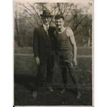 1922 Press Photo boxer Vincent Pepper Martin and his manager Jimmy Kelly