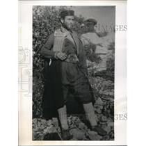 1944 Press Photo Yugoslavia Rudole Klopper in native battle dress