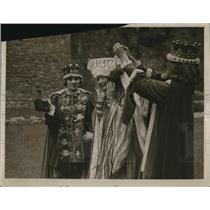 1929 Press Photo Hanlech Castle Historical Pageant
