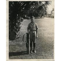 1923 Press Photo John Sargent Pillsburg Jr of Minneapolis golfing